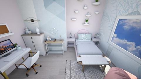 pinkandbluebirdroom - Living room  - by tahliawaters
