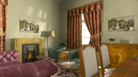The Importance of Being e - Vintage - Living room  - by bluecheeseperso
