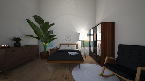 wooden bedroom - by Roomplaner321