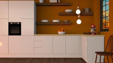 Autumn kitchen - Kitchen  - by l i a