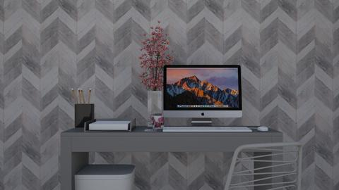 Grey Desk  - Office - by Roomstyler101102