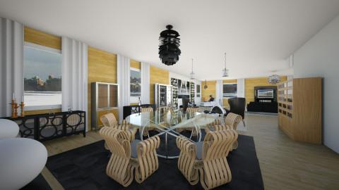 Negro madera y Acero - Modern - Kitchen  - by ericeira