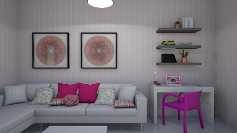 sala pink - Living room  - by clasesytutorias