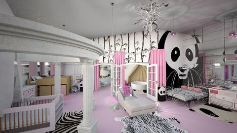 Pink Panda - Bedroom - by Tiany Rice