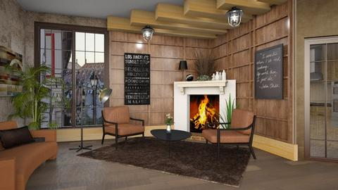 Brownish_ Fireplace - by ZsuzsannaCs