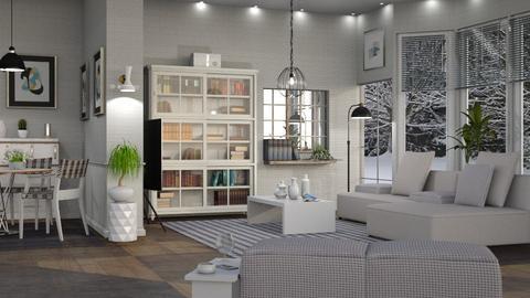 M_ Plaid - Living room  - by milyca8