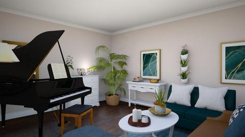 Grand Music Room - Classic - Living room  - by janAllan