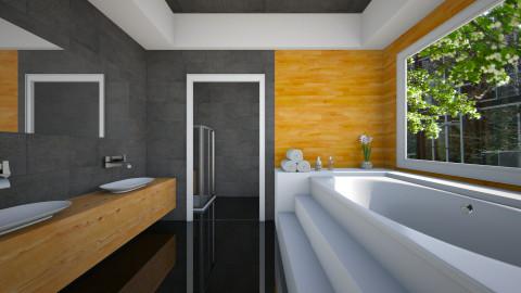Wood Bathroom - Bathroom - by Natalie T