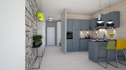 brown kitchen - Kitchen  - by ewcia3666