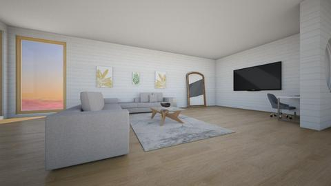 Living room with office - Living room  - by g0uii