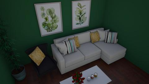 Green Living - Living room  - by Rabbit238