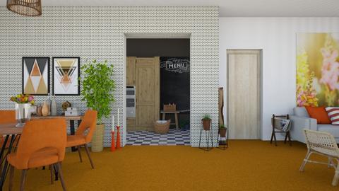 Orange Carpet - Modern - Living room  - by martinabb