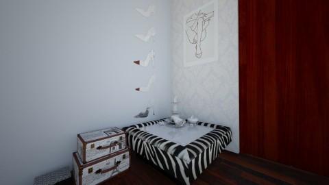 zebra bedroom  - Glamour - Bedroom - by marcolino999