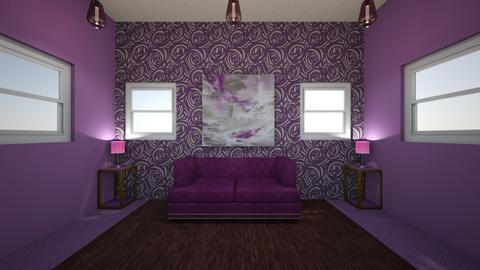 Purple Color Project - Living room  - by Hailey_Miller