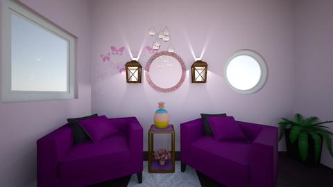 Purple And Pink Room - Living room  - by Wensday