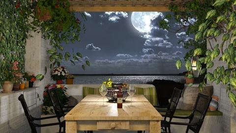 Summer night - Garden  - by Lizzy0715