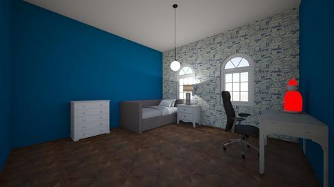 Blue kids bedroom - Minimal - Kids room  - by sophiefleah