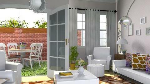 Civilian housing_var. - Eclectic - Living room  - by milyca8