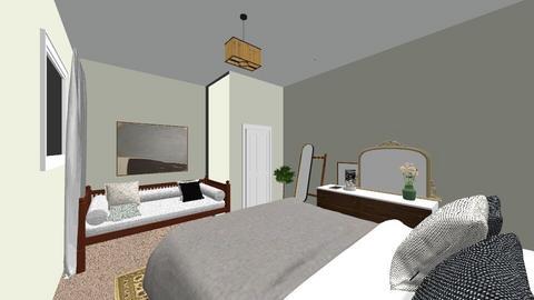 Bedroom Two Cedar Lodge  - by vanessaanneoconnor