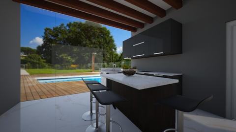 modern kitchen - Modern - Kitchen  - by RhodriSimpson13