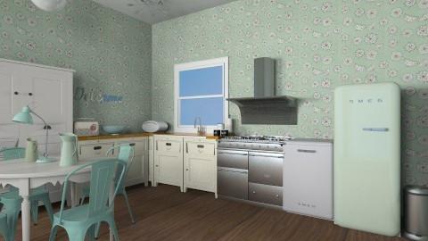 Mint Retro Kitchen - Retro - Kitchen - by JazzyAllen