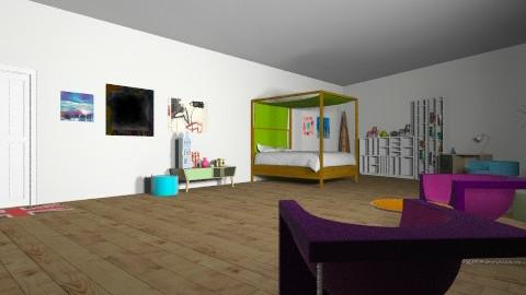 Unique Colorfull Bedroom - Retro - Bedroom  - by rieldanjani