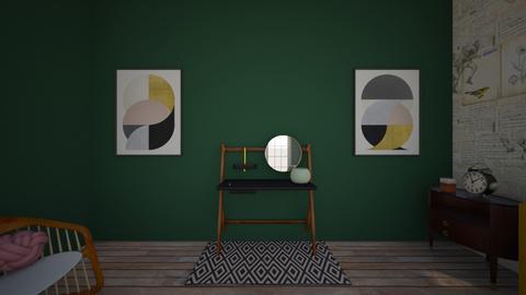 Vintage Inspired Bedroom - Vintage - Bedroom  - by ilovemycorgi40