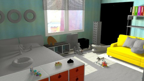 Aidan's room cms - Eclectic - Bedroom  - by nonehpets