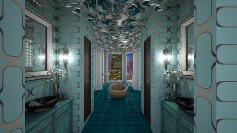 Turquoise Metal Bath - Bathroom - by mattpop34