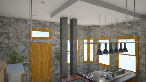 grey shades of kitchen 4 - Minimal - Kitchen  - by herjantofarhan