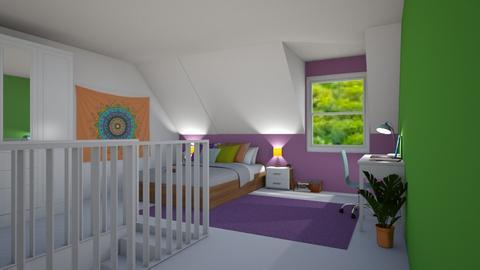 Attic Bedroom - by chocolatedonut71