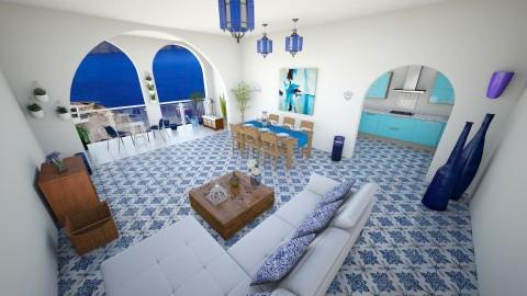 Greek house - Living room - by Szilvia94