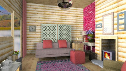 Log cabin sitting - Rustic - Living room  - by mrschicken