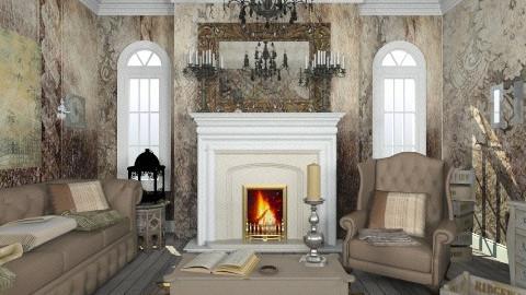 Dimitri xcvxcvggcx - Rustic - Living room  - by GinaAlhambra