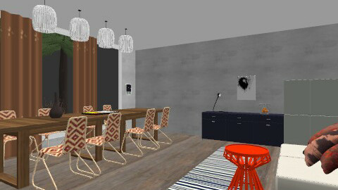 GREY - Global - Dining room  - by Kaarina