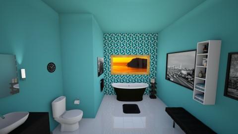 Ocean Breeze Bath - Feminine - Bathroom - by ROAR