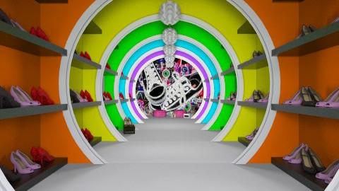 Neon Shoe Closet - by MeeraPatel357