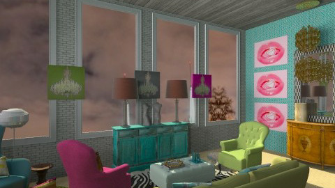 Berlin Flat with view - Glamour - Living room - by deesdesigns