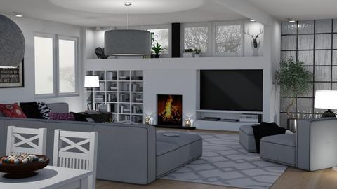 Family Room - Living room - by GraceKathryn