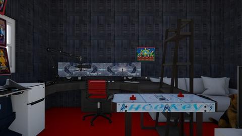 logans gaming room - Modern - by logan185sams
