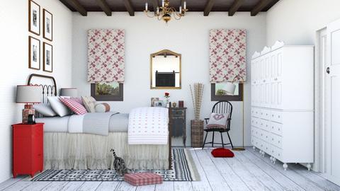 Farm bedroom - Bedroom  - by Charipis home