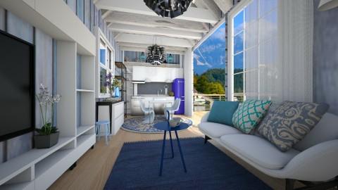 felling the blues - Modern - Living room  - by Evangeline_The_Unicorn