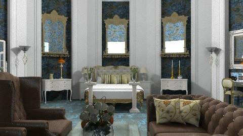 huone123 - Glamour - Bedroom  - by janetski2