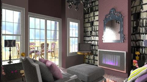 Drawing - Vintage - Living room  - by mrschicken