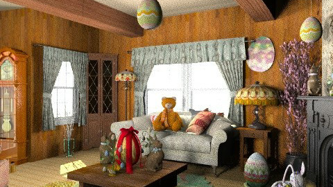 Easter Cabin - Classic - Living room  - by kirstynat
