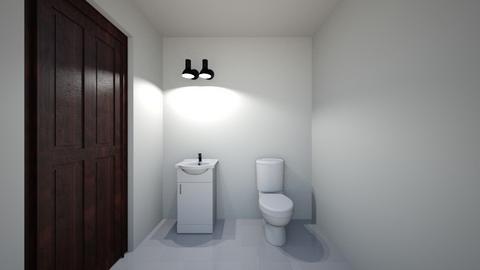 Laura R Powder Room - Bathroom  - by blackc96