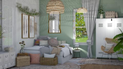 Boho Bailey 1 - Modern - Bedroom - by NEVERQUITDESIGNIT