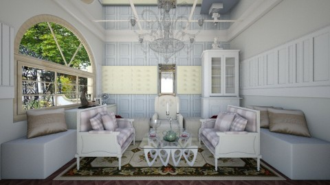 royal living room - Glamour - Living room  - by linnda123222