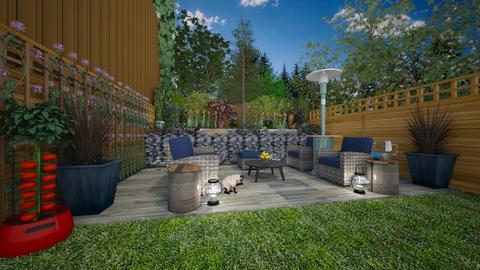 small patio - Feminine - Garden  - by donella