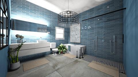 blue bathroom - Bathroom - by claire05